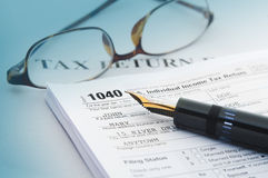 Φορολογική λογιστική Στοκ Φωτογραφίες