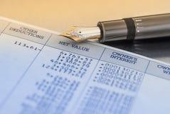 Φορολογική προετοιμασία Στοκ φωτογραφίες με δικαίωμα ελεύθερης χρήσης