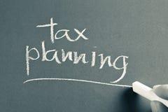 Φορολογικός προγραμματισμός Στοκ εικόνα με δικαίωμα ελεύθερης χρήσης