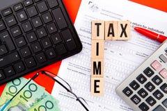Φορολογικός χρόνος - Αυστραλία Στοκ φωτογραφίες με δικαίωμα ελεύθερης χρήσης