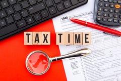 Φορολογικός χρόνος - ΗΠΑ Στοκ εικόνα με δικαίωμα ελεύθερης χρήσης