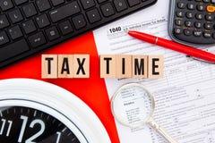 Φορολογικός χρόνος - ΗΠΑ Στοκ Εικόνα