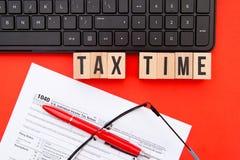 Φορολογικός χρόνος - ΗΠΑ Στοκ Φωτογραφία