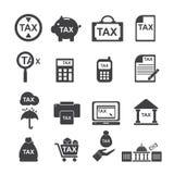 Φορολογικό εικονίδιο Στοκ φωτογραφία με δικαίωμα ελεύθερης χρήσης
