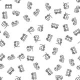 Φορτίου εμπορικό διάνυσμα σχεδίων διοικητικών μεριμνών άνευ ραφής ελεύθερη απεικόνιση δικαιώματος