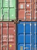 φορτίο εμπορευματοκιβωτίων Στοκ εικόνα με δικαίωμα ελεύθερης χρήσης