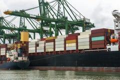 Φορτίο, ναυτιλία, εμπόριο, οικονομία, εργασίες Στοκ Εικόνα