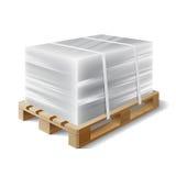 Φορτίο σε μια ξύλινη παλέτα Στοκ Εικόνες