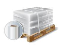 Φορτίο σε μια ξύλινη παλέτα Στοκ φωτογραφία με δικαίωμα ελεύθερης χρήσης