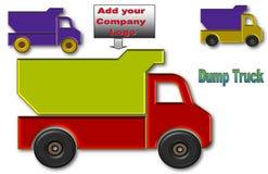 Φορτηγά απορρίψεων με το διάστημα για το λογότυπο και τη διαφήμιση ελεύθερη απεικόνιση δικαιώματος