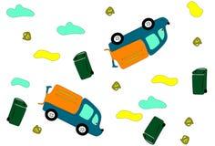 Φορτηγά απορριμάτων Στοκ Εικόνα