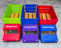 Φορτηγά παιχνιδιών με την επιγραφή ` Chiapas ` Στοκ εικόνα με δικαίωμα ελεύθερης χρήσης