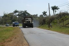 Φορτηγά που στο δρόμο στοκ φωτογραφία με δικαίωμα ελεύθερης χρήσης