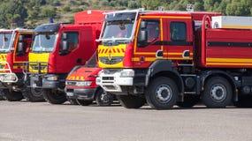 Φορτηγά της Renault των γαλλικών δυνάμεων αστικής ασφάλειας Στοκ φωτογραφίες με δικαίωμα ελεύθερης χρήσης