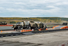 Φορτηγά ural-4320 και ural-42306 στρατού Στοκ Φωτογραφίες
