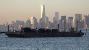 Φορτηγίδες, βάρκες, σκάφη, φορτίο απόθεμα βίντεο