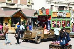 Φορτηγό αγγελιών κόκα κόλα Στοκ φωτογραφία με δικαίωμα ελεύθερης χρήσης