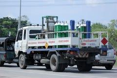 Φορτηγό αερίου Lanna βιομηχανικό gases Company Στοκ εικόνες με δικαίωμα ελεύθερης χρήσης