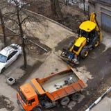 Φορτηγό απορρίψεων και τρακτέρ p3 Στοκ Φωτογραφίες