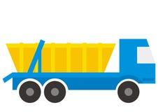Φορτηγό απορριμάτων με το εμπορευματοκιβώτιο, διανυσματικό εικονίδιο απεικόνιση αποθεμάτων