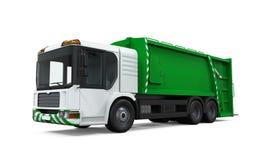 Φορτηγό απορριμάτων που απομονώνεται Στοκ εικόνα με δικαίωμα ελεύθερης χρήσης