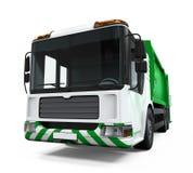 Φορτηγό απορριμάτων που απομονώνεται Στοκ φωτογραφία με δικαίωμα ελεύθερης χρήσης