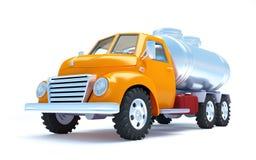Φορτηγό βυτιοφόρων κινούμενων σχεδίων Στοκ Εικόνα