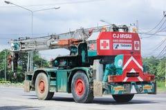 Φορτηγό γερανών TADANO της επιχείρησης γερανών CJ Στοκ εικόνα με δικαίωμα ελεύθερης χρήσης