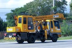 Φορτηγό γερανών TADANO της συγκεκριμένης επιχείρησης ΜΑΔ Στοκ εικόνα με δικαίωμα ελεύθερης χρήσης