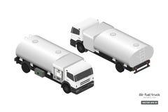 Φορτηγό καυσίμων αέρα στο isometric ύφος Συντήρηση των αεροσκαφών Μεταφορά αεροδρομίων Βυτιοφόρο για το αεροπλάνο σχεδιασμός βιομ στοκ φωτογραφία με δικαίωμα ελεύθερης χρήσης