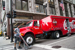 Φορτηγό κόκα κόλα στοκ φωτογραφία