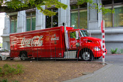 Φορτηγό κόκα κόλα Στοκ εικόνες με δικαίωμα ελεύθερης χρήσης
