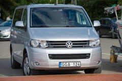 Φορτηγό μεταφορέων της VW T5 Στοκ φωτογραφίες με δικαίωμα ελεύθερης χρήσης