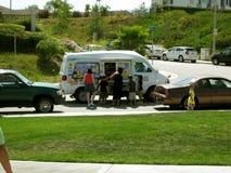 Φορτηγό παγωτού, Moreno Valley Community Park, Moreno Valley, Καλιφόρνια, ΗΠΑ Στοκ φωτογραφίες με δικαίωμα ελεύθερης χρήσης