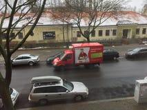 Φορτηγό παντοπωλείων Στοκ Εικόνες