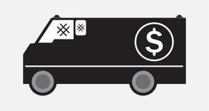 Φορτηγό παράδοσης χρημάτων ή θωρακισμένο φορτηγό ελεύθερη απεικόνιση δικαιώματος