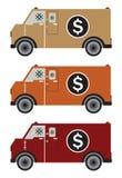 Φορτηγό παράδοσης χρημάτων ή θωρακισμένο φορτηγό διανυσματική απεικόνιση