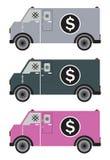 Φορτηγό παράδοσης χρημάτων ή θωρακισμένο φορτηγό απεικόνιση αποθεμάτων