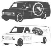 Φορτηγό παράδοσης πιτσών Στοκ Εικόνες