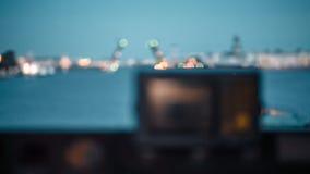 Φορτηγό πλοίο ποταμών στο neva ποταμών απόθεμα βίντεο