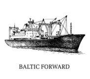 Φορτηγό πλοίο, σημαιοφόρος Βαλτική μπροστινή Στοκ Φωτογραφία