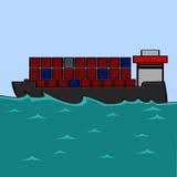 Φορτηγό πλοίο ελεύθερη απεικόνιση δικαιώματος