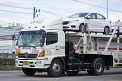 Φορτηγό ρυμουλκών μεταφορέων ομάδας διοικητικών μεριμνών ANI για το αυτοκίνητο της Honda Στοκ Φωτογραφία
