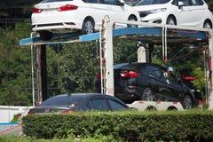 Φορτηγό ρυμουλκών μεταφορέων ομάδας διοικητικών μεριμνών ANI για το αυτοκίνητο της Honda Στοκ Εικόνα