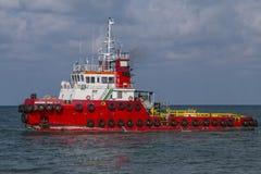 Φορτηγό σκαφών για την έλξη και την ώθηση μπροστινές Στοκ φωτογραφία με δικαίωμα ελεύθερης χρήσης