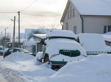 Φορτηγό στο χιόνι Στοκ Φωτογραφίες
