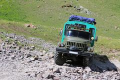 Φορτηγό στρατού ZIL 131 στοκ φωτογραφίες