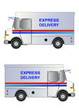 Φορτηγό ταχυδρομικής υπηρεσίας, απομονωμένη, διανυσματική απεικόνιση Στοκ Εικόνα