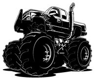 Φορτηγό τεράτων κινούμενων σχεδίων Στοκ εικόνες με δικαίωμα ελεύθερης χρήσης