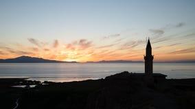 Φορτηγό, Τουρκία - 27 Σεπτεμβρίου 2013: Ηλιοβασίλεμα Van Fortress (Van Kalesi) Στοκ φωτογραφία με δικαίωμα ελεύθερης χρήσης